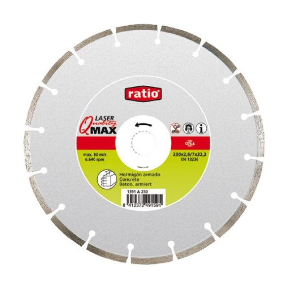DISCO DIAMANTE UNIVERSAL Q-MAX 115 MM RATIO